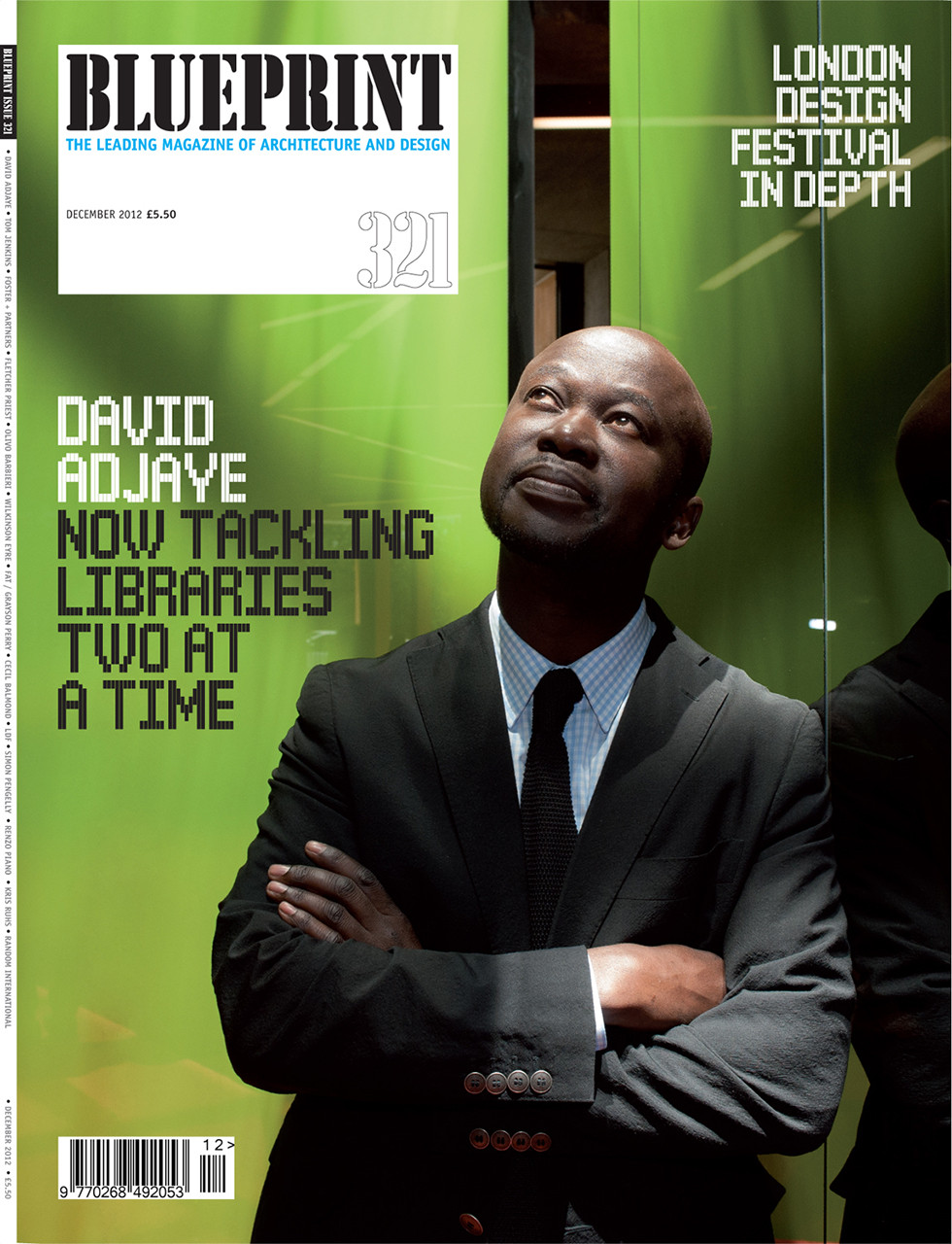 Portrait of Architect David Adjaye for Blueprint Magazine