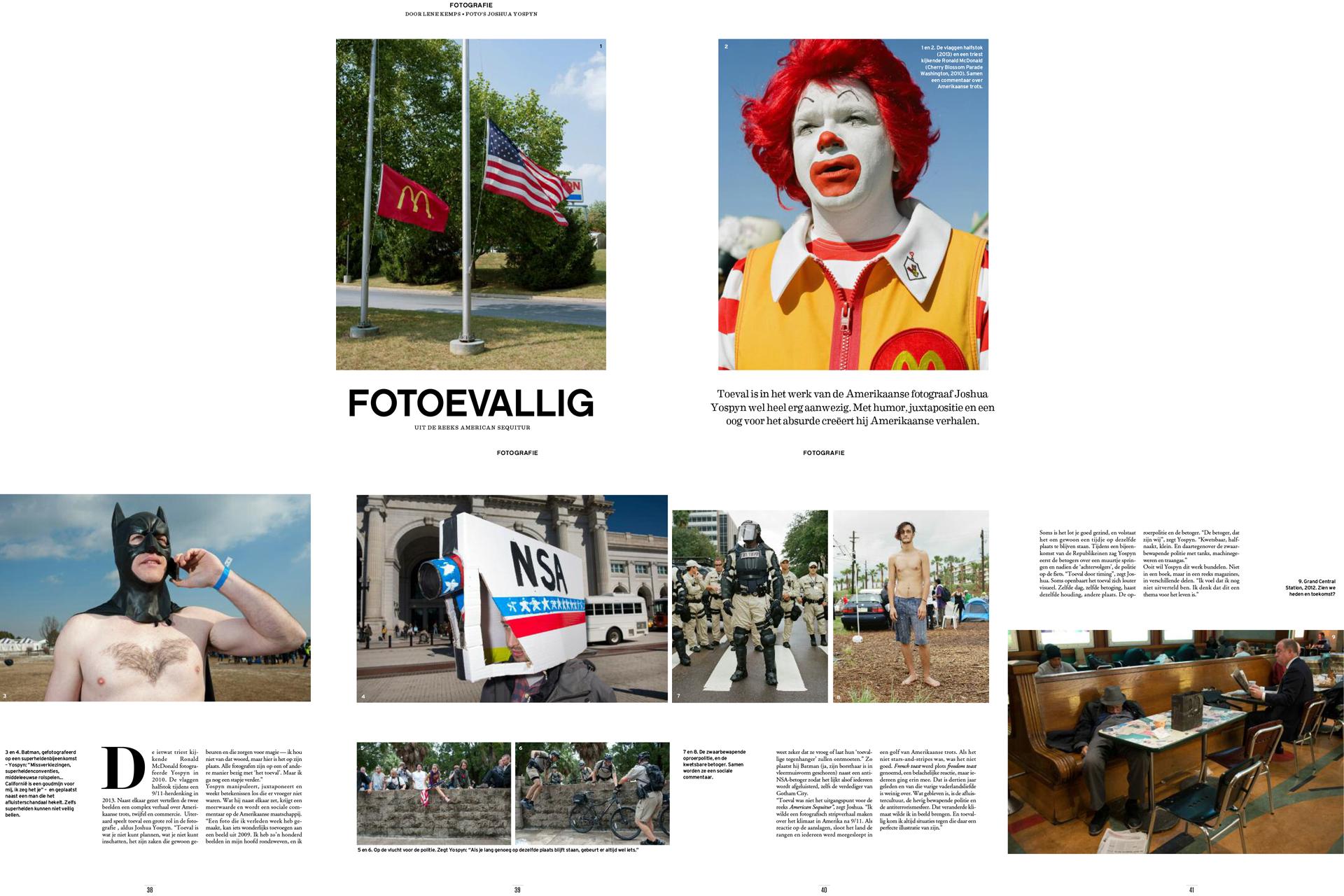 Knack Weekend (Belgium) photo essay on American Sequitur project