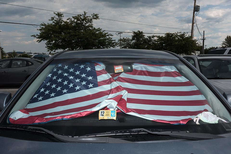 American Flag Windshield 1286