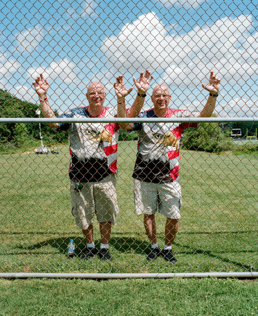 "Jerry and John live in Ohio and sang the National Anthem to start one of the Twins Days festival talent shows. ""Jerry's a black sheep that moved away,"" said John who lives 60 miles away from him in their hometown."