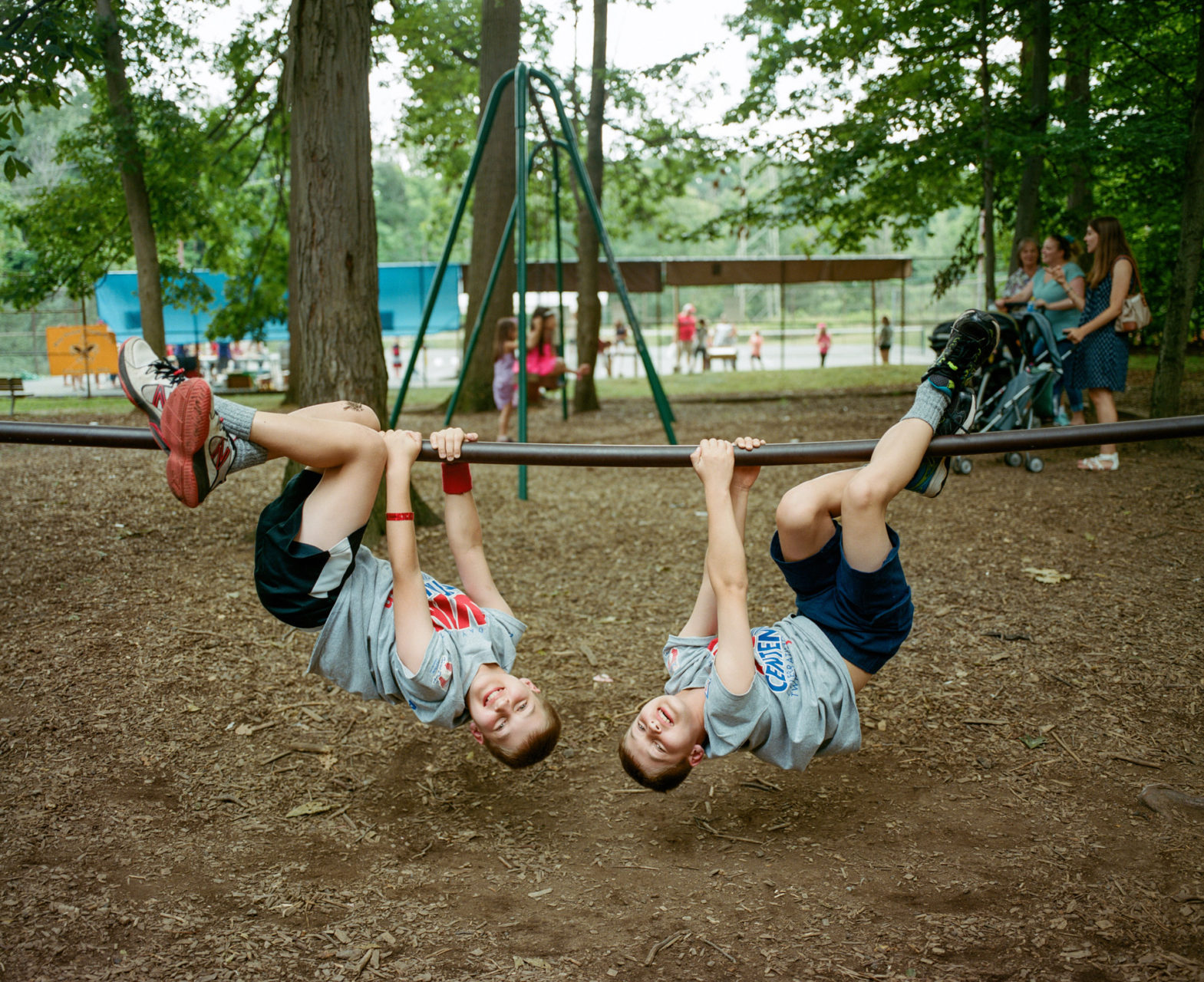Reagan and Jack, 9, of Lenoir City, Tenn., attended Twins Days with their family. Reagan was described as timid and shy, yet a talker who likes to ride his bike. While his brother is more competitive and outgoing. Their father said when they come out of the pool or bathtub, or even from the side, he can't always tell them apart.